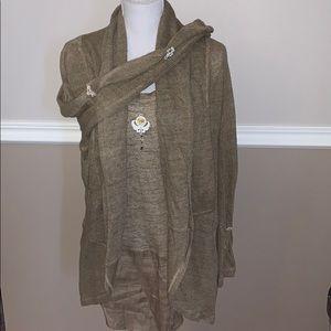 Elisa Cavaletti tank and open sweater set